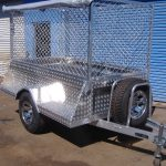 8x4 caged Box Trailers