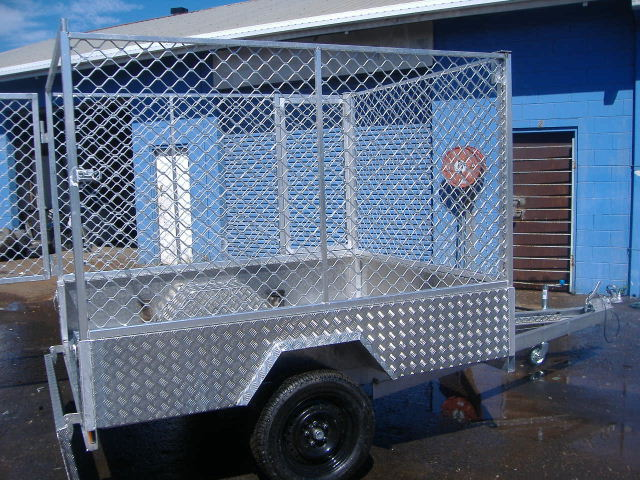 8x4 Caged Trailer