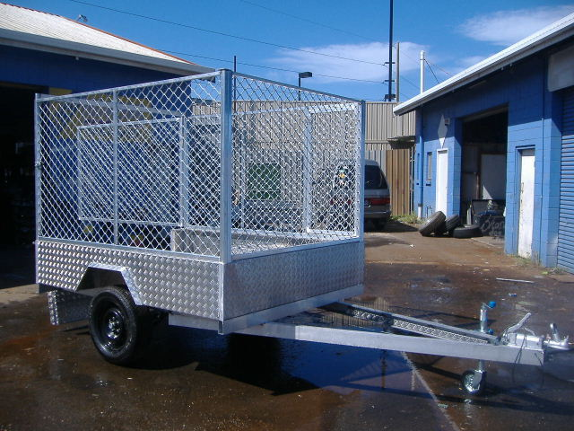 8x4 Aluminium Caged Trailer